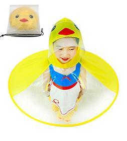 KMYS Children's Duck Raincoat ,Portable Reusable Raincoats