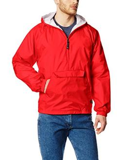 Charles River Apparel Men's Classic Solid Windbreaker Pullov