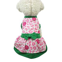 Rendodon Clearance!! Pet Clothes Small Dog Cat Cute Dress Pe