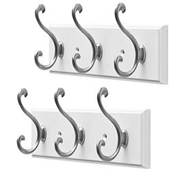 Franklin Brass (2 Pack 9.5 Inch Coat Rack Hanging Rail Mount