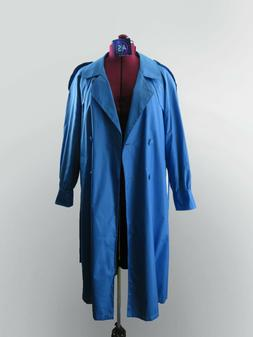 Coat Totes rain trench jacket light weight full long blue si