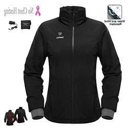Cordless 7.4v Women's Heated Jacket Winter Outdoor Coat With