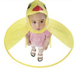 Creative Yellow Duck Poncho Children's Raincoat UFO Rain Coa