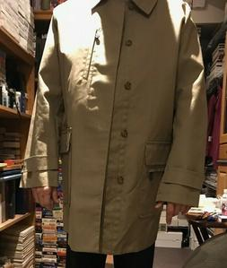 Tommy Hilfiger Crest Trench Rain Coat Tailored Dress Mens LG