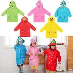 Cute Boys Girls Animal Children Cartoon Rain Coat Baby Rainc