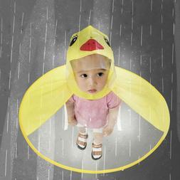 Cute Rain Coat UFO Child Umbrella Hat Free Raincoat Little y