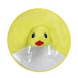 Sameno Cute Rain Coat UFO Cute Cartoon Duck Yellow Baby Chil