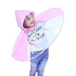 Tpingfe Cute Rain Coat, Adorable Novelty Foldable UFO Rainco