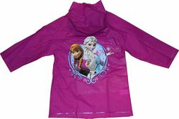 Disney Frozen Elsa Anna Girls Hooded Rain Coat Jacket Waterp
