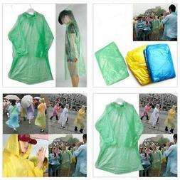 Disposable Adult Emergency Waterproof Rain Coat Poncho Hikin