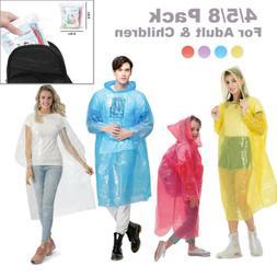 Disposable Adult+Kid Emergency Waterproof Rain Coat Poncho H