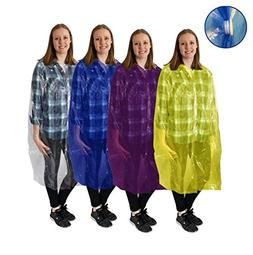 Disposable Emergency Rain Ponchos - Raincoat, featuring fron