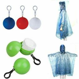 disposable emergency waterproof keyring ball rain coat