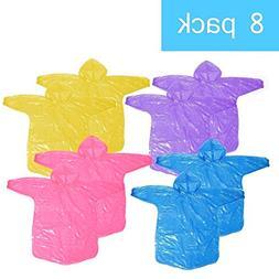 Disposable Kids Rain Poncho,Packable Rain Coat with Drawstri