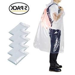 Opret Disposable Rain Poncho, Emergency Poncho Transparent W