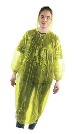 Disposable Rain Ponchos For Adults Emergency Raincoat Oversi