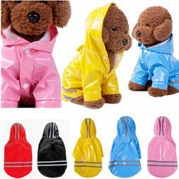 Dog Cat Reflective Raincoat Pet Waterproof Dog Coat Jacket R