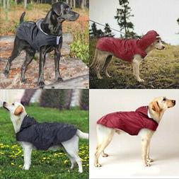 Dog Coat Waterproof Jacket Raincoat Reflective Hooded Coat S