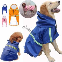 Dog Coat Waterproof Jacket Raincoat Suit Small Large Reflect