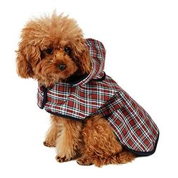 Speedy Pet Dog Rain Poncho Coat Jacket Puppy Waterproof Coat
