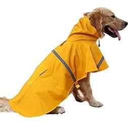 NACOCO Large Dog Raincoat Adjustable Pet Water Proof Clothes