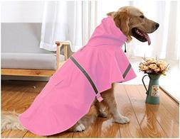 Mikayoo Large Dog Raincoat Ajustable Pet Waterproof Clothes