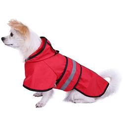 HDE Dog Raincoat Hooded Slicker Poncho for Small to X-Large