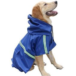 Dog Raincoat Leisure Waterproof Lightweight Dog Coat Jacket