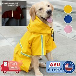 Dog Raincoat Waterproof Outdoor pet Doggie Rain Coat Rainwea
