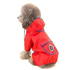 Topsung Dog Raincoat Waterproof Puppy Jacket Pet Rainwear Cl