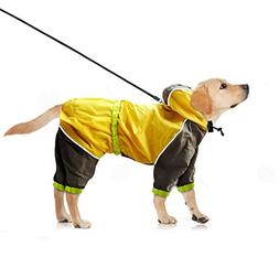 Dog Raincoat Yellow Waterproof Slicker - Lightweight and Bre