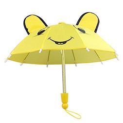 18 Inch Doll Hot Pink Umbrella, Handle Loop, Open & closes P