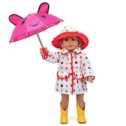 18 Inch Doll Clothes Rain Coat for American Girl Dolls with