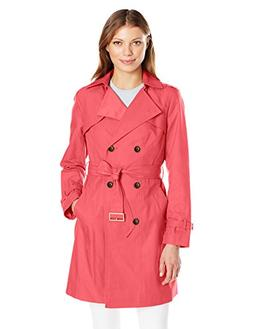 Cole Haan Women's Double Breasted Trench Coat, Mineral, Medi