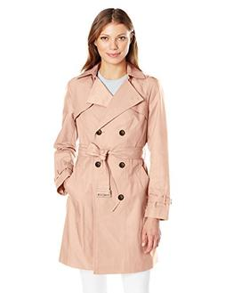 Cole Haan Women's Double Breasted Trench Coat, Blush, Extra