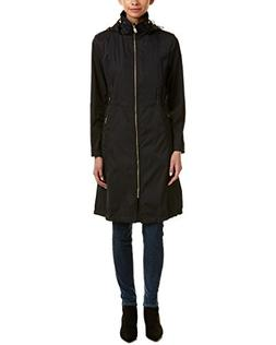 Cole Haan Womens Double Face Rain Parka With Detachable Hood