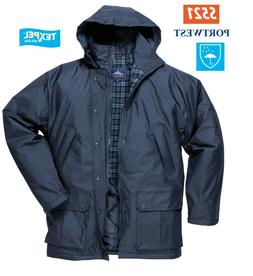 Portwest Dundee Lined Water Proof Jacket Rain Coat Outdoor W