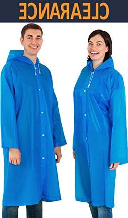Leger Sport Durable Disposable Rain Coat with Hood for Women
