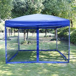 VIVOHOME Outdoor Easy Pop Up Canopy Screen Party Tent with M