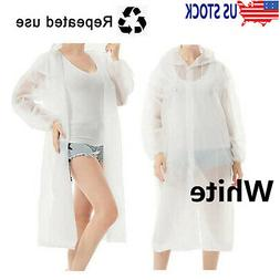Unisex Emergency Raincoats Hooded Poncho Rain Coat Protect G