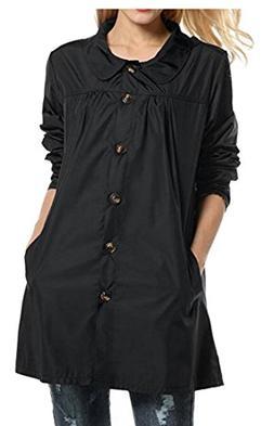 M&S&W Women's New Englander Waterproof Rain Jacket Black L