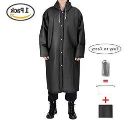EnergeticSky EVA Portable Raincoat,Reusable Rain Poncho with