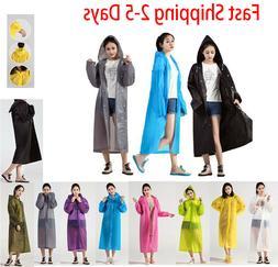 EVA Rain Coat Waterproof Jacket Clear Raincoat Hooded Poncho