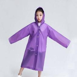 EVA Frosted Child Raincoat Girl Boy Rainwear Hiking Travel R