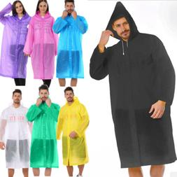EVA Unisex Waterproof Jacket Clear Raincoat Rain Coat Hooded