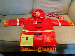 Kidorable Fireman Rain Coat Size 6/6X