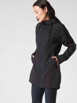 ATHLETA Forecast Rain Shell S SMALL Black | CYA Rain Coat Ja