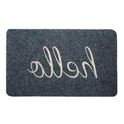 BIGA Hello Front Welcome Entrance Door Mats for Indoor Outdo
