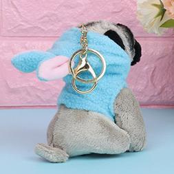 Lamdoo Funny Cute Raincoat Pugger Dog Dolls Puppy Dog Bag Pe