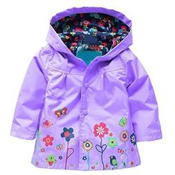 Arshiner Girl Baby Kid Waterproof Hooded Coat Jacket Outwear